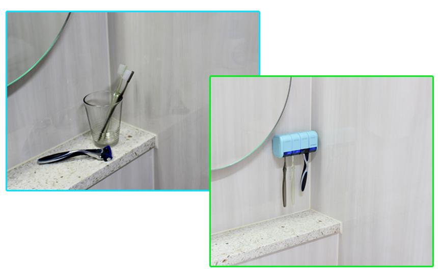 充電式歯ブラシ除菌ホルダー